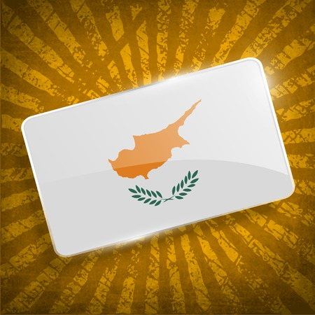 cyprus: Flag of Cyprus with old texture.  Illustration