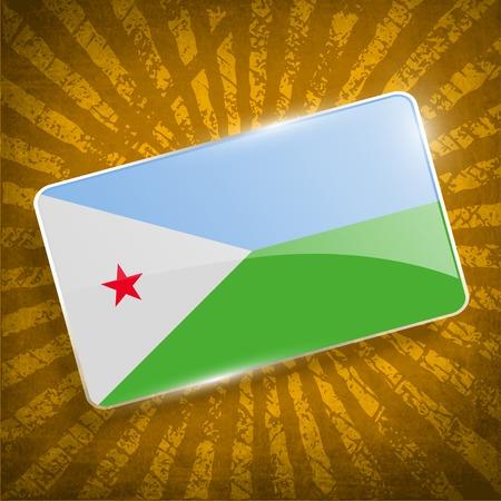 djibouti: Flag of Djibouti with old texture.