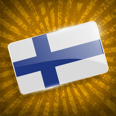 baltic: Flag of Finland with old texture.