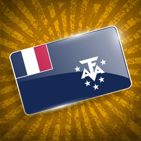 antarctic: Flag of French Southern and Antarctic Lands with old texture.