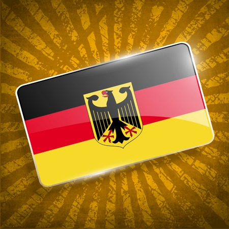 deutsch: Flag of Arms of Germany with old texture.
