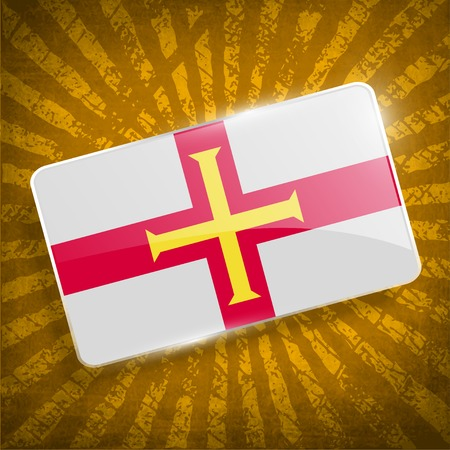 guernsey: Flag of Guernsey with old texture. Illustration