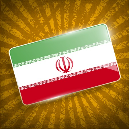 Flag of Iran with old texture.