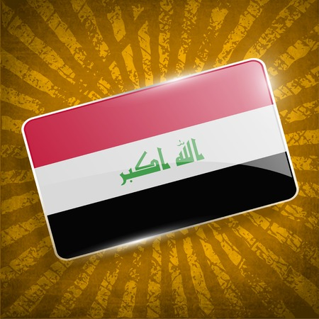 militant: Flag of Iraq with old texture.