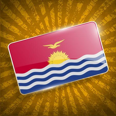 kiribati: Flag of Kiribati with old texture.