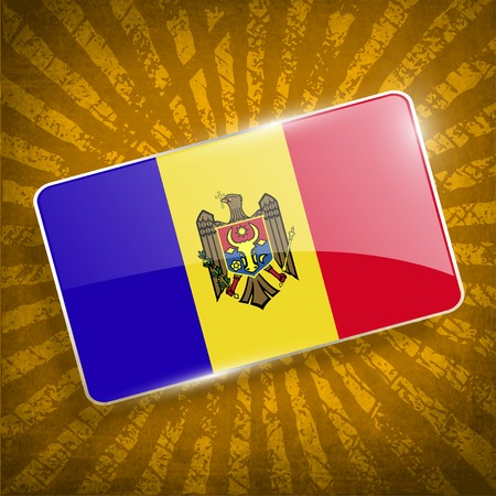 moldovan: Flag of Moldova with old texture.  Illustration