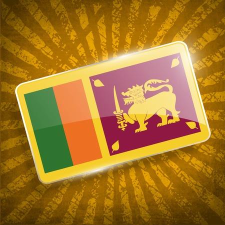 lanka: Flag of Sri Lanka with old texture.