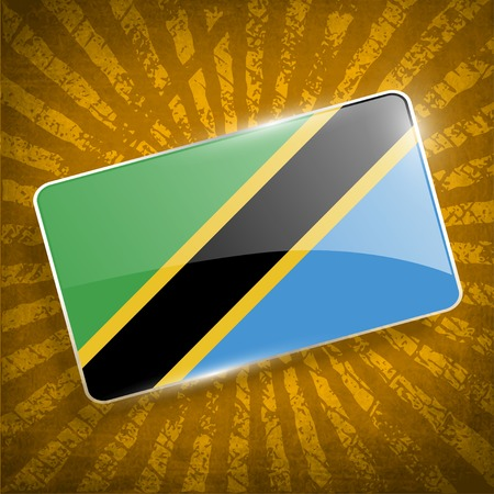 Flag of Tanzania with old texture.