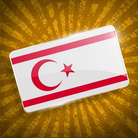 northern: Flag of Turkish and Northern Cyprus with old texture.