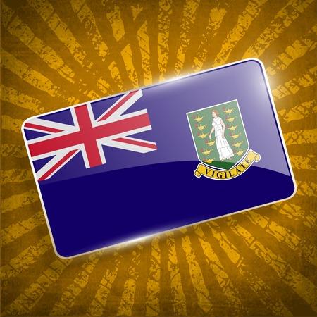 Flag of Virgin Islands UK with old texture. Иллюстрация