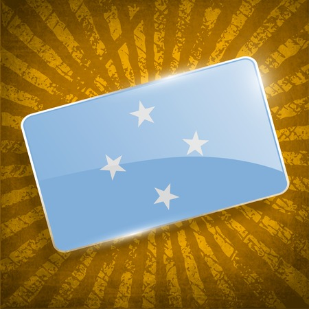 micronesia: Flag of Micronesia with old texture.