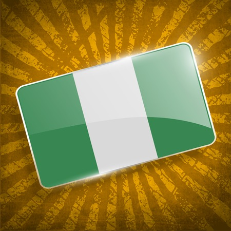 anthem: Flag of Nigeria with old texture.