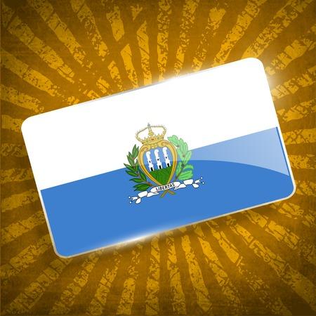 san marino: Flag of San Marino with old texture. Illustration