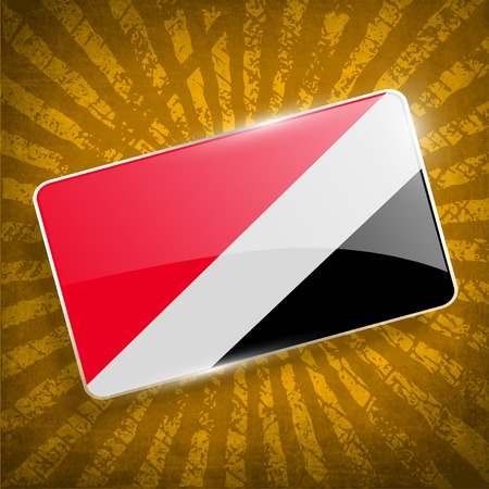 sealand: Flag of The Principality Sealand with old texture.  Illustration