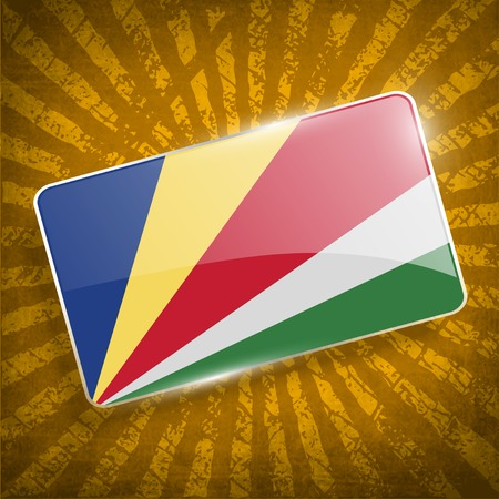 seychelles: Flag of Seychelles with old texture.  Illustration