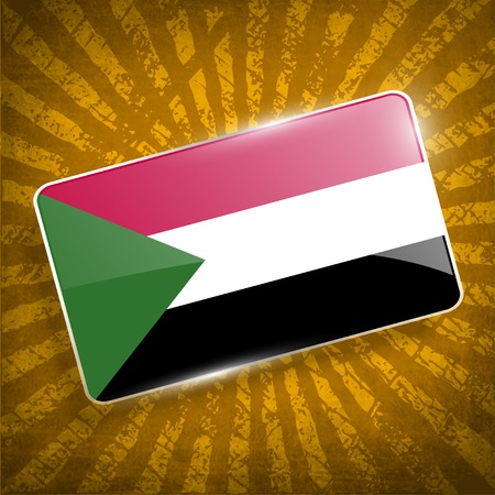 sudan: Flag of Sudan with old texture.  Illustration