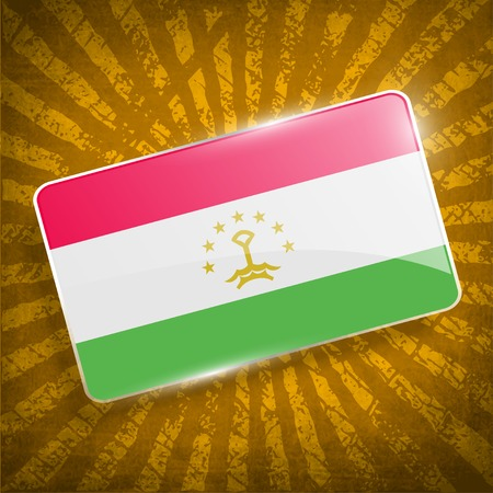 proportional: Flag of Tajikistan with old texture.  Illustration