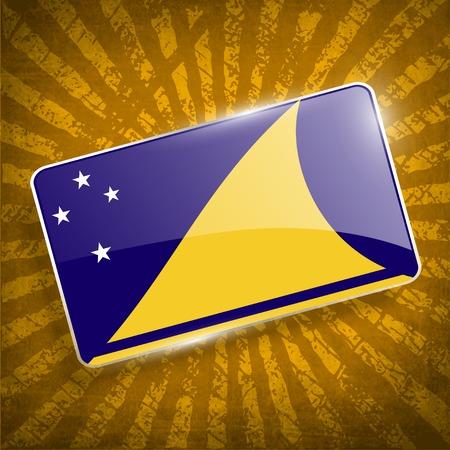 tokelau: Flag of Tokelau with old texture.
