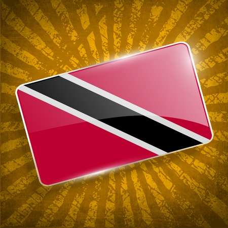 trinidadian: Flag of Trinidad and Tobago with old texture.