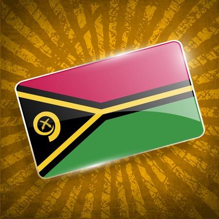 vanuatu: Flag of Vanuatu with old texture.
