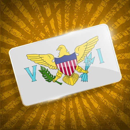 virgin islands: Flag of Virgin Islands US with old texture.