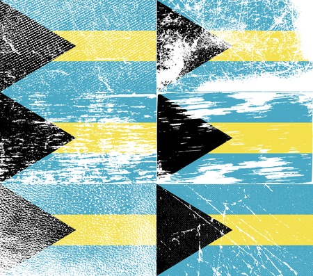 bahamas: Flag of Bahamas with old texture. Vector illustration