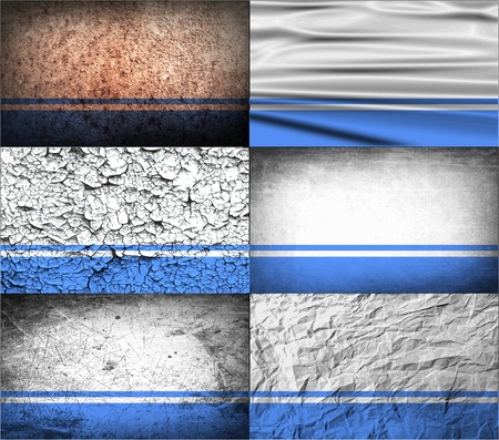 altai: Flag of Altai Republic with old texture. Vector illustration