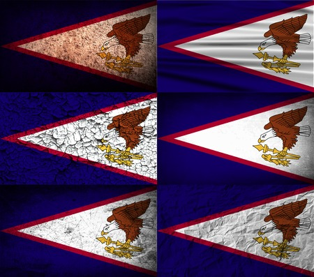 wallpaper  eps 10: Flag of American Samoa with old texture. Vector illustration Illustration