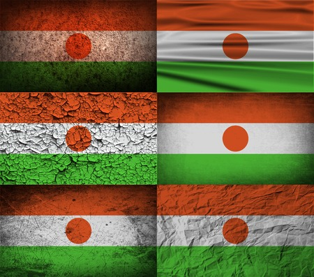 proportional: Flag of Niger with old texture