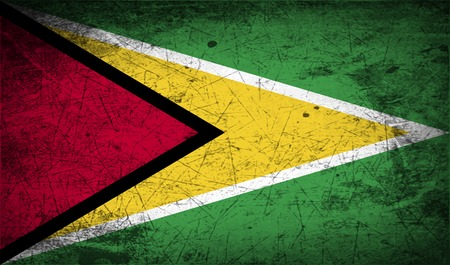 Guyana: Flag of Guyana with old texture.  illustration