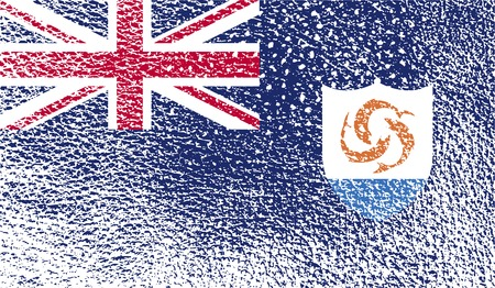 anguilla: Flag of Anguilla with old texture.  illustration Stock Photo