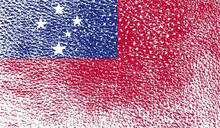samoa: Flag of Samoa with old texture.  illustration