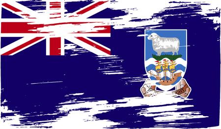 falkland: Flag of Falkland Islands with old texture.  illustration