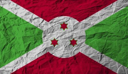 burundi: Flag of Burundi with old texture.  illustration Stock Photo
