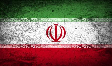 iran: Flag of Iran with old texture.  illustration