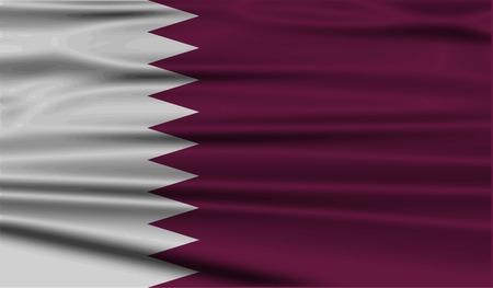 qatar: Flag of Qatar with old texture.  illustration Stock Photo