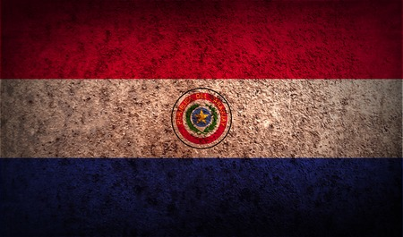 paraguay: Flag of Paraguay with old texture.  illustration
