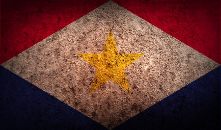 saba: Flag of Saba with old texture.  illustration Stock Photo