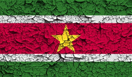 suriname: Flag of Suriname with old texture.  illustration