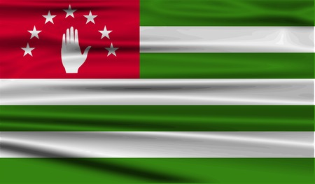 abkhazia: Flag of Abkhazia with old texture.  illustration
