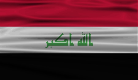 taliban: Flag of Iraq with old texture.  illustration