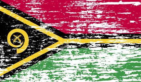 vanuatu: Flag of Vanuatu with old texture.  illustration