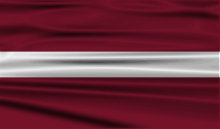Flag of Latvia with old texture.  illustration