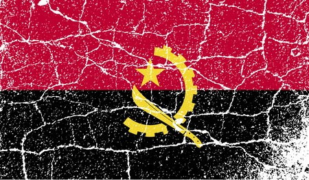 angola: Flag of Angola with old texture.  illustration