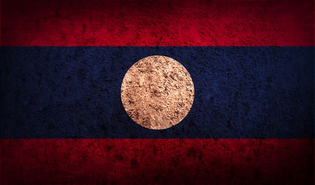 laotian: Flag of Laos with old texture.  illustration