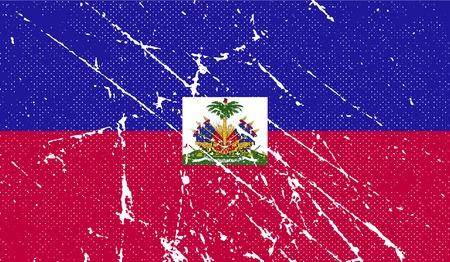 haiti: Flag of Haiti with old texture.  illustration