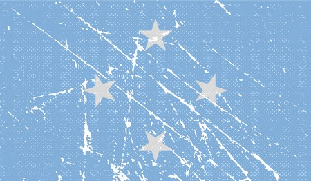 micronesia: Flag of Micronesia with old texture.  illustration