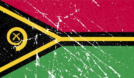vanuatu: Flag of Vanuatu with old texture.  illustration
