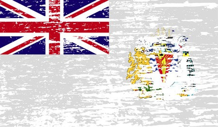 antarctic: Flag of British Antarctic Territory with old texture.  illustration