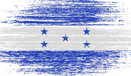 spangled: Flag of Honduras with old texture.  illustration Stock Photo